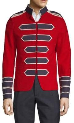 Valentino Embroidered Cotton Sportcoat