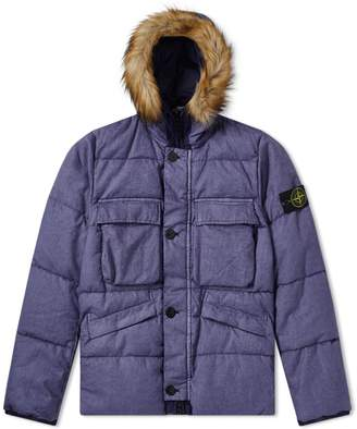 Stone Island Lino Resinato Down Filled Hooded Jacket