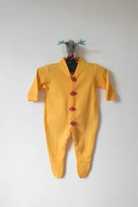 Scarecrow Kids Yellow Footed Onesie