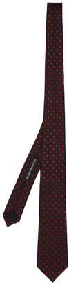 Alexander McQueen Polka-dot embroidered silk tie