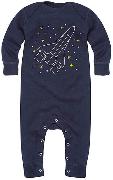 Navy Space Ship Constellation Playsuit - Infant