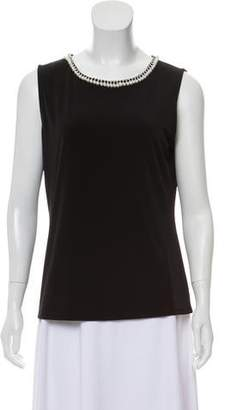 Karl Lagerfeld Embellished Sleeveless Top