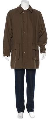 Armani Collezioni Corduroy-Lined Overcoat