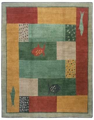 Of A Kind Tufenkian Artisan Carpets Lagoon Paintbox Area Rug, 10' x 10'