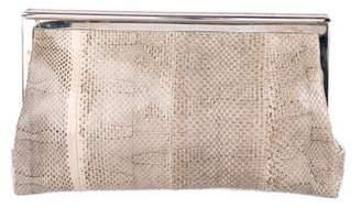 Marni Snakeskin Frame Clutch
