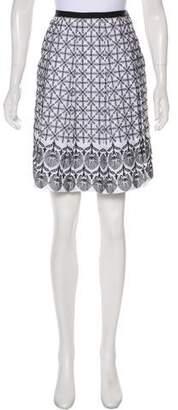 T Tahari Embroidered Knee-Length Skirt