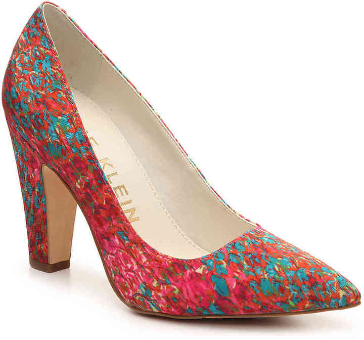 Anne Klein Women's Hollyn Fabric Pump -Pink/Blue Multicolor