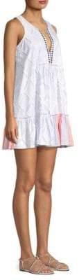 Lemlem Besu Bib V-Neck Mini Dress