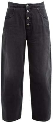 MM6 MAISON MARGIELA High Waisted Carrot Fit Jeans - Womens - Black