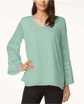 Alfani Solid Layered-Sleeve Top