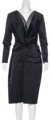 Talbot Runhof Long Sleeve Sheath Dress w/ Tags