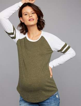 Z Supply Sleeve Detail Maternity Top