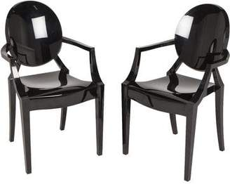 Kartell Pair of Louis Ghost Chairs