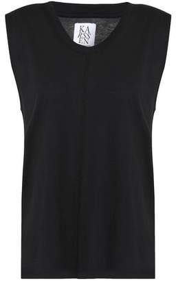 Zoe Karssen Printed Slub Cotton And Modal-Blend Jersey Top