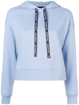 Karl Lagerfeld contrast back hoodie