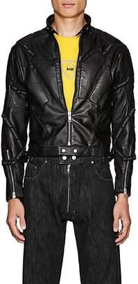GmbH Men's Leather Motocross Jacket - Black