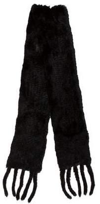 Saks Fifth Avenue Knit Fur Scarf
