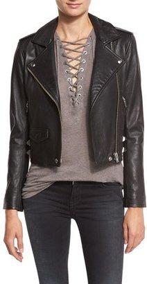 Iro Pixy Studded Leather Jacket, Black $1,355 thestylecure.com