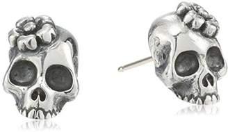 King Baby Sakura Skull Stud Earrings $170 thestylecure.com