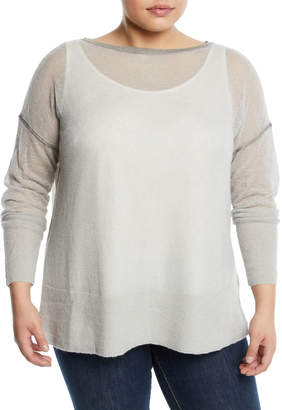 Lafayette 148 New York Sequined Sweater, Plus Size