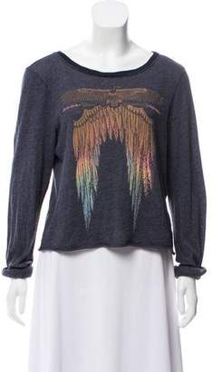 Wildfox Couture Printed Long Sleeve Top