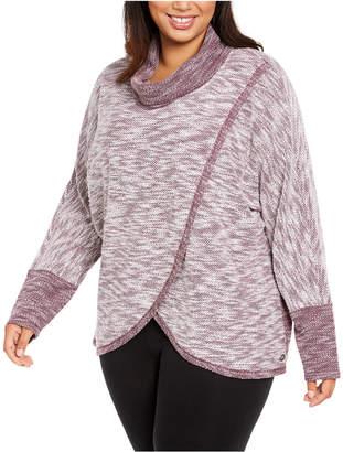 Calvin Klein Plus Size Cowl-Neck Sweatshirt