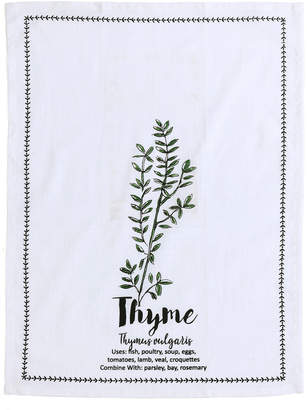 Shiraleah Thyme Tea Towel With Spoon Gift Set