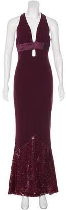 Christian Dior Greene Sleeveless Embellished Dress