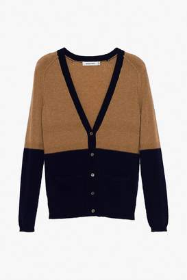 Genuine People Colorblock Cashmere Cardigan