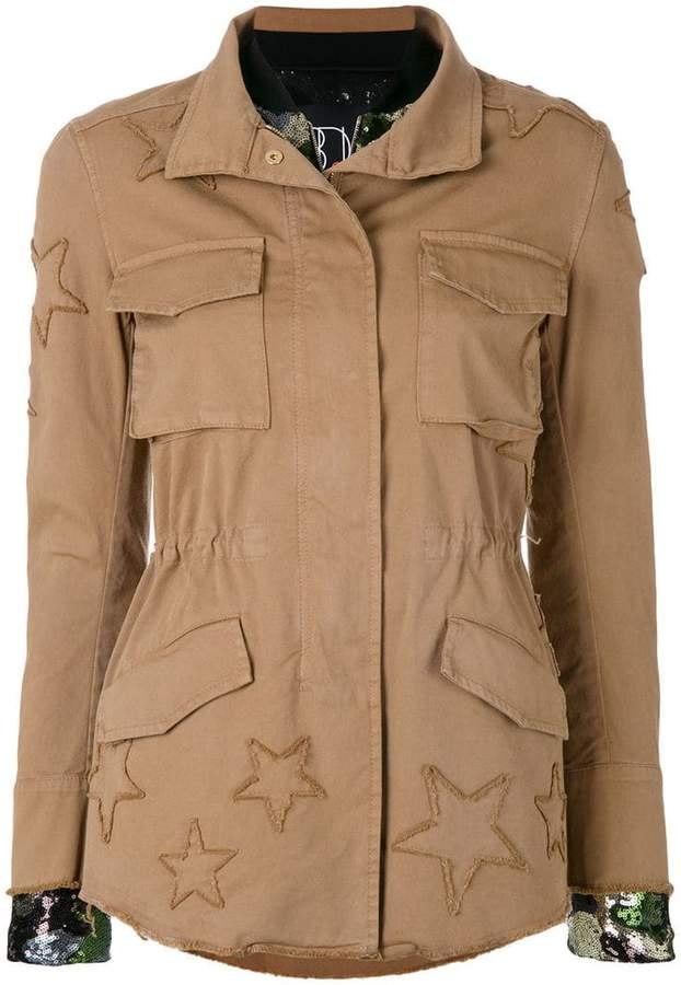 Bazar Deluxe layered cargo and bomber jacket
