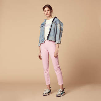 Sandro Pink high-waisted jeans