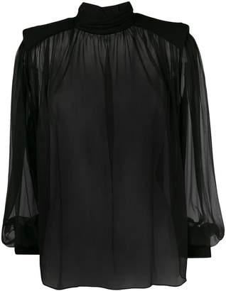 Alberta Ferretti transparent silk blouse