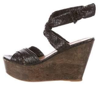Alaia Platform Wedge Sandals