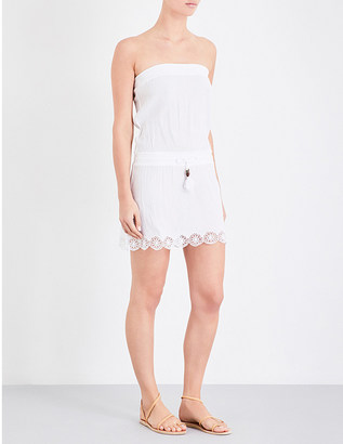 Heidi Klein Ostuni bandeau cotton-blend mini dress $168 thestylecure.com