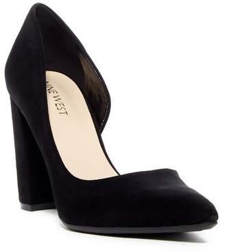 21efe06c998 Nine West Anisa d Orsay Suede Block Heel Pump