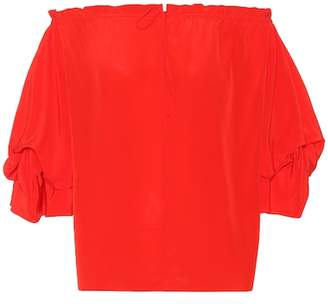 Diane von Furstenberg Georgeanne silk-crêpe top