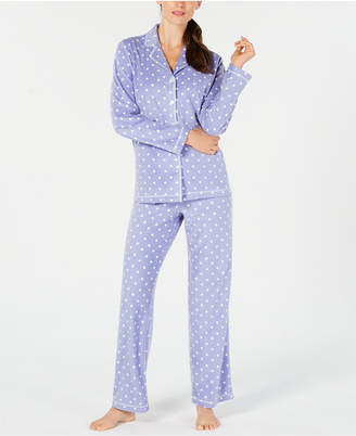 Charter Club Petite Printed Fleece Pajama Set
