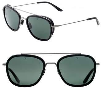 Vuarnet Glacier 54mm Polarized Aviator Sunglasses