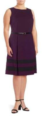 Calvin Klein Plus Belted A-Line Dress