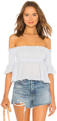 About Us Dolly Off Shoulder Smocked Top