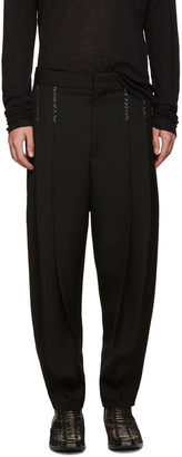 Haider Ackermann Black Topstitched Orbai Trousers $1,090 thestylecure.com