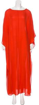 Tory Burch Silk Wide Maxi Dress