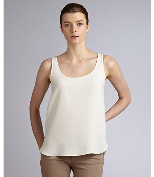ADAM porcelain silk scoop neck tank blouse