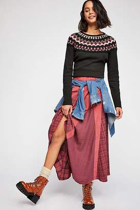 Cp Shades Patchwork Maxi Skirt