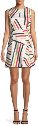Milly Alexa Directional-Striped Shift Dress