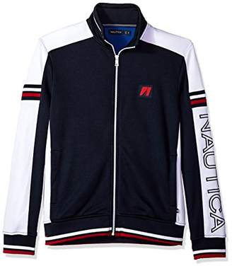 Nautica Men's Long Sleeve Retro Track Jacket