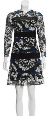 Burberry Lace Mini Dress Blue Lace Mini Dress