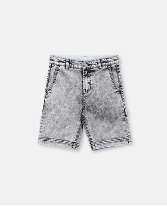 Stella McCartney Gray Stone Washed Denim Shorts