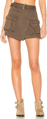 Lovers + Friends Lovers + Friends x REVOLVE Teller Skort in Army $138 thestylecure.com