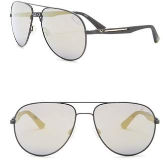 Puma Flexstyle V2 59mm Aviator Sunglasses